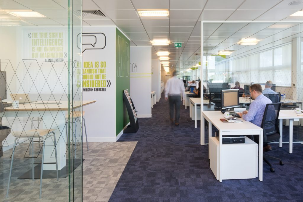 k2 space design fit out new office for news uk