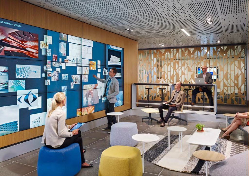 How technology impacts office design k2 space for Tech company office design